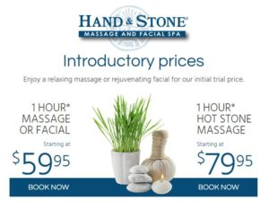 Hand and Stone Massage Offer