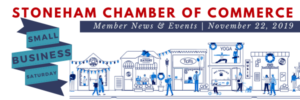 Small Business Saturday drawing of town