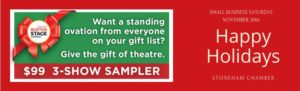 Greater Boston Stage Company 3 for $99 special